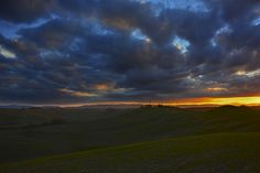 Crazy Sunset in crete senesi, Tuscany, Italy