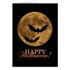 Spooky Super Moon Card - Halloween happyhalloween festival party holiday