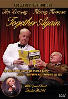 Tim Conway Harvey Korman Together Again DVD TIM CONWAY is best known for his role on The Carol Burnett Show Harvey Korman Run Time: 94 minutes Harvey Korman, Carol Burnett, You Make Me Laugh, Together Again, Tv Land, Comedy Tv, Life Pictures, Funny People, Mom And Dad