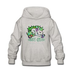 This Happy Easter Hooded Sweatshirt  For Kids is On Sale every day of the year at PersonalizedSouvenirs.com.