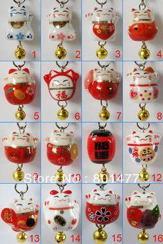 Maneki Neko Lucky Cat/Lantern Charm Bracelet