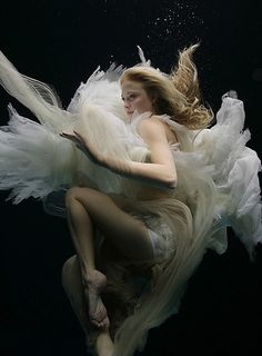 """Zena Holloway"" love the angle of the shot. I love the elegance of her legs and the dress floating up around her."