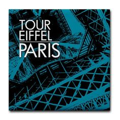Tour Eiffel Paris tile coaster