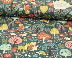 **Bio-Interlock Jersey vom amerikanischen Hersteller Birch Fabrics**  **Motiv: Nature Hike**  Weicher, dehnbarer Interlock-Jersey aus 100% Bio-Baumwolle (200 g/m²) in wunderbaren warmen...
