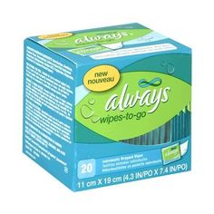 Amazon.com: Always Feminine Wipe Clean Wipes-to-Go, 20-Count Packages... (71 VEF) ❤ liked on Polyvore featuring body, accessories, bathroom and toiletries