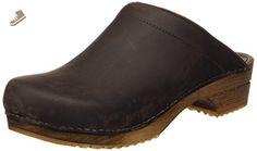 Sanita Women's Wood Chrissy Clogs,Brown,38 M EU / 7-7.5 B(M) US - Sanita mules and clogs for women (*Amazon Partner-Link)