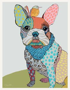 pet portraits with line design
