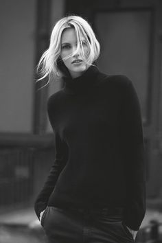 i am desparately seeking the perfect black cashmere turtleneck to replace my vintage scottish turtleneck...this might do in a chill!