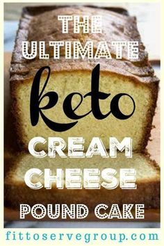 The ultimate keto cream cheese pound cake recipe. It's an easy low carb cream ch… The ultimate keto cream cheese pound cake recipe. It's an easy low carb cream cheese recipe for pound cake. Don't miss out on having cake just because you're on a Keto Diet. Ketogenic Recipes, Low Carb Recipes, Diet Recipes, Recipes Dinner, Cake Recipes, Keto Desert Recipes, Recipies, Atkins Recipes, Cooking Recipes