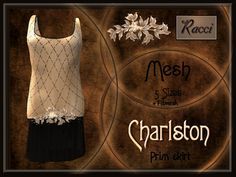 ** Charlston Dress Beige ** (Mesh 5 sizes + Fitmesh 5 sizes)