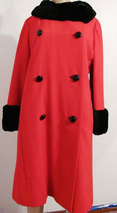 SALE 1960s Retro Chic Red & Black Faux Mink by BresBaublesVintage, $86.00