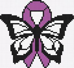 Perler - Fibromyalgia Butterfly - Large by blackhavikgraphics.deviantart.com on @DeviantArt
