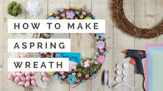 Join Amy as she shows you how to make a gorgeous Spring wreath #spring #wreath