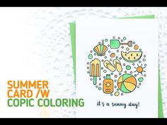 CAS Summer Beach Card using Copic Coloring
