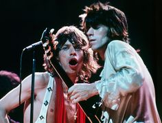Mick Jagger & Keith Richards, the original Glimmer Twins, The Marquee Club, London, 1971.