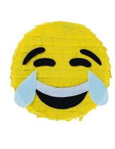 Piñata 25cm Imoji™: Es una piñata con licencia oficial Imoji™.Mide unos 25cm de diámetro y 8cm de alto.Es de cartón con papelitos amarillos que representan a un Emoticono.