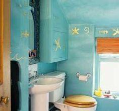 beach house decor Love<3 when I get a house or my own place I want my bathroom beach themed :)