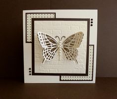Butterfly on a wall by sistersandie - Cards and Paper Crafts at Splitcoaststampers