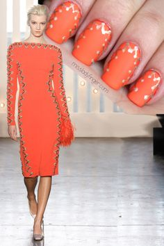 MANICURE MUSE: Jenny Packham Fall '14 Connect the dots. It's just that simple. Click through for the Ladyfinger tutorial and col...