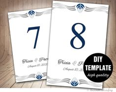 Diy Table Card Template Wedding Table CardFrame by paperfull