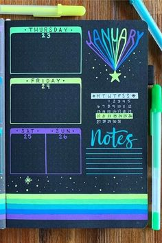 Want to completely change up the look of your bujo! Check out these super fun black bullet journal spreads and layout ideas! Bullet Journal Notebook, Bullet Journal Spread, Bullet Journal Layout, Bullet Journal Ideas Pages, Bullet Journal Inspiration, Diary Notebook, Bullet Journals, Art Journals, Bujo