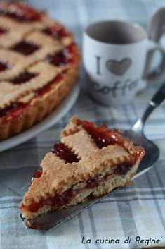 Pie & Coffee For a Night Time Snack! Sweet Recipes, Real Food Recipes, Cake Recipes, Dessert Recipes, Cooking Recipes, Italian Desserts, Italian Recipes, Torte Cake, Healthy Cake