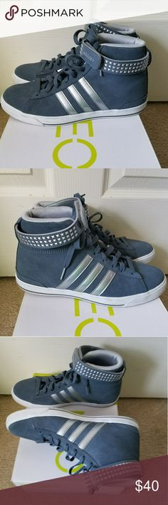 Adidas Gray Stripe High Top Sneakers Size 7 Comes w/Box. Size 7. In Very Good Pre-owned Condition! Fast Immediate Priority Shipping! Please visit my closest for additional designer items. Thank you. adidas Shoes Sneakers
