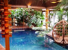 Indoor Pool at the Don Erickson home