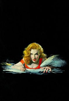Robert Maguire Vintage Pulp Art Illustration |
