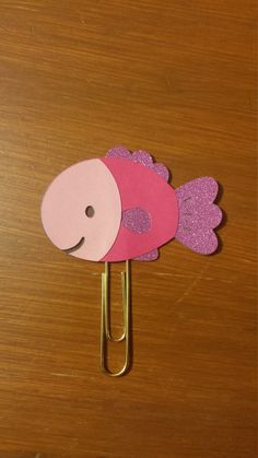 Pink Fish Planner Clip by RUNWITHCRAFTSCISSORS on Etsy