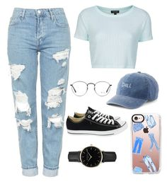 """Chill out"" by zagl ❤ liked on Polyvore featuring Topshop, SO, Converse, Ray-Ban, Casetify and ROSEFIELD"