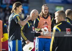 Zlatan Ibrahimovic of Sweden during training/ heating before the International Friendly match between Norway and Sweden at Ullevaal Stadion on June 8, 2015 in Oslo, Norway.