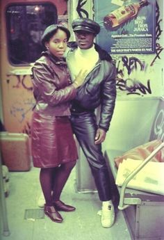 Old New York — nycnostalgia: The couple that wears leather together, stays together.
