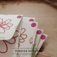 Free shiipping colorful flower paper envelope for wedding gift packaging envelopes vintage airmail envelopes 17.5*12.5cm
