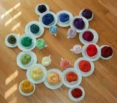 Combinación de colores al vestir. Puedes: 1.- Usar los mismos colores: Mira la rueda grande. Puedes combinar los mismos colores combinando los 3 que se ven en vertical (el color prinicipal en el plato grande y los dos otros colores que se encuentran en los platitios pegados). 2.- Usar colores combinables: Por ejemplo asociando colores que se encuentran en los platitos más al exterior de la rueda. 3.- Usar colores opuestos: Si miras la rueda de platos grandes, el opuesto al verde es el rojo,
