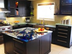 Cool Kitchen Designs With Glass Tops by ThinkGlass