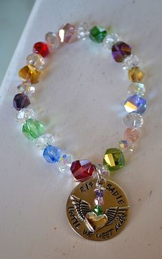 Rainbow Bridge Personalized Handstamped Stretch Bracelet by Pawsitively Purrfect, $22.00