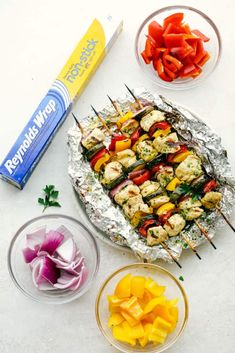 Garlic Ranch Chicken Skewers are the perfect way to enjoy kabobs this summer. Get grilling with this easy to make chicken that has all the flavor on each skewer! Yummy Chicken Recipes, Yum Yum Chicken, Dry Ranch Dressing Mix, Dry Ranch Mix, Food Network Recipes, Cooking Recipes, Chicken On A Stick, Vegetable Skewers, Kebabs On The Grill