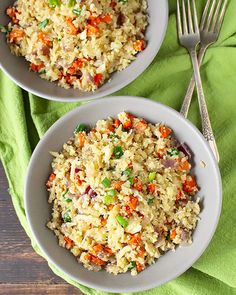 This Paleo Cauliflower Fried Rice is a delicious alternative to the popular take-out dish. Whole30, gluten free, dairy free, and so amazing! This bowl of veggies has so much flavor and you will love it! It does require a little prep work- grating the cauliflower, cutting the carrots, dicing the onion, but that can all...Read More »