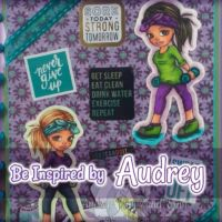 Audreys Inspiration  Gorgeous Fitness Girl Planner Cover #digitalstamps #coloringpages #fairies
