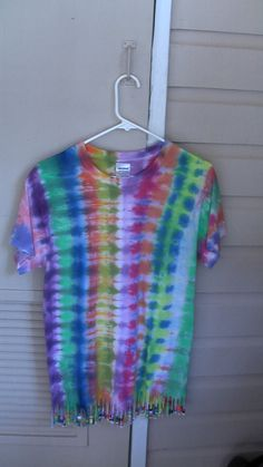Hey, I found this really awesome Etsy listing at https://www.etsy.com/listing/168407490/tie-dye-beaded-small-t-shirt-by-ill