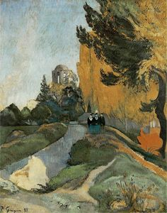 "Paul Gaugin - Les Alyscamps, 1888. Oil on canvas. 91,5 x 72,5 cm (36"" x 28.5"")"