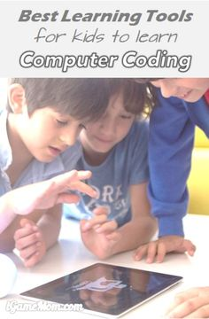 Best learning tools for kids to learn computer coding on iPad and other tablet #kidsapps