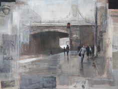 Alexey Alpatov, belorusskiy train station, 2008 - mixed media on canvas, 90/110cm