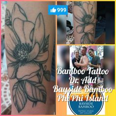 9fa79d8fcf03e Bamboo tattoo by Dr. Add! Amazing line work and shading, all done by hand!  Visit us at Bayside Bamboo Phi Phi Island  www.facebook.com/baysidebamboophiphi ...
