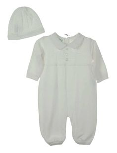 NEW Feltman Brothers White Knit Romper and Hat $65.00