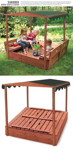 Sandbox Bench Seats and Cover