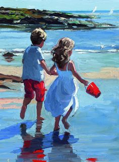 Seaside Days I [Sherree Valentine Daines-A704] - $500.00 painting by oilpaintingsartmaker.com