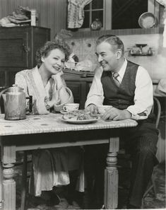 """Shirley Booth and Sidney Blackmer in """"Come Back, Little Sheba"""" by William Inge, Broadway Plays, Broadway Theatre, Shirley Booth, Theatre Plays, Dramatic Arts, West End, Classic Films, Classic Hollywood, Golden Age"""