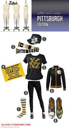 What we'd wear to a PIttsburgh Steeler's game - those are handpainted TOMs people!